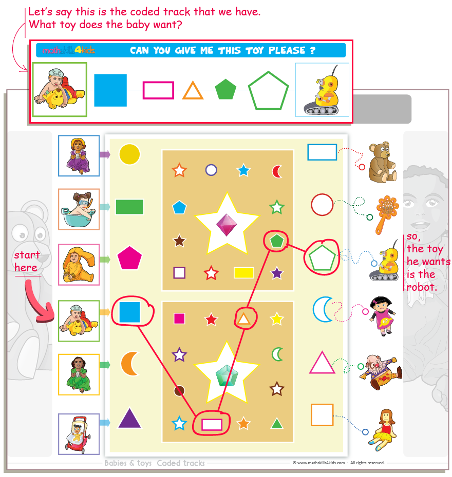 Babies and Toys Logical Reasoning Game instructions