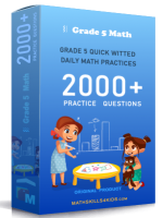 Grade 5 quick witted daily math practices