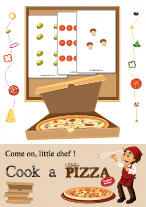 Pizza Chef's Recipe - Count & Mix the Ingredients