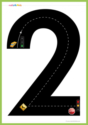 number 2 road number path